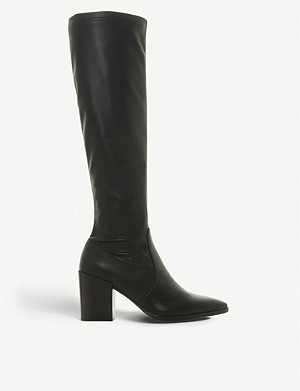 449338a71f3 DUNE BLACK - Teddie knee-high leather boots