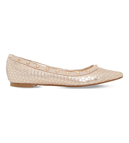 ec1e2532db2 DUNE - Bambina reptile-effect leather pumps