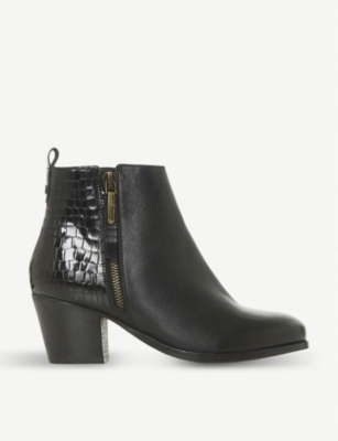 DUNE Peerson leather wide fit ankle boots
