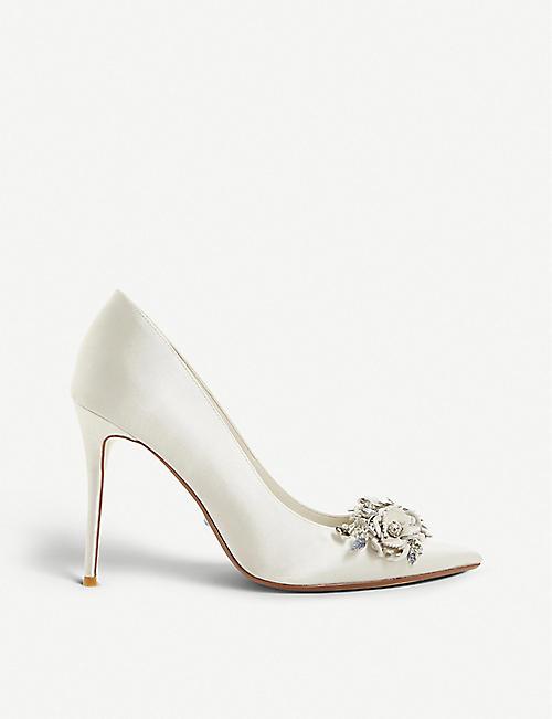 7b683be8ea8 DUNE Brydee embellished satin pointed-toe court shoes