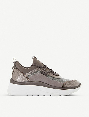 DUNE Essio mixed-panel trainers