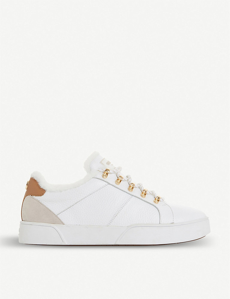 Dune Elsie leather trainers
