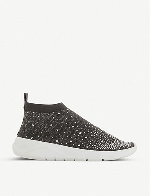 DUNE Embellished sock trainers