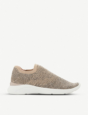 DUNE Easy pull-on knitted trainers