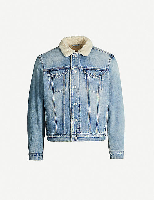 ALLSAINTS: Ilkley shearling-lined denim jacket