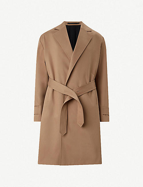 e17fcd3c ALLSAINTS Reynolds oversized woven trench coat