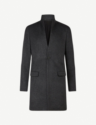 ALLSAINTS Bodell notch-lapel wool coat