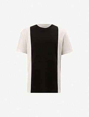 ALLSAINTS Helix contrast-panel relaxed cotton T-shirt