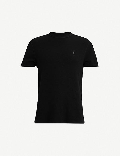 ALLSAINTS Clash waffle-knit cotton T-shirt