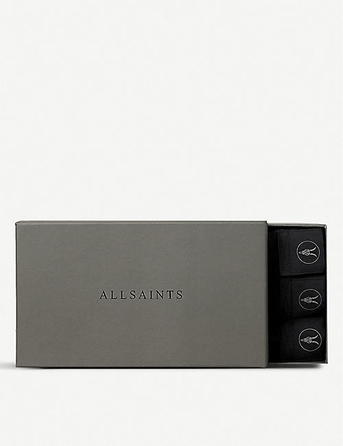 ALLSAINTS Pack of three slim-fit Morrall stretch-cotton boxers