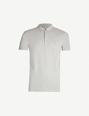 ALLSAINTS Brace cotton-jersey polo shirt