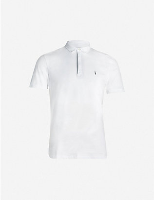 ALLSAINTS: Brace cotton-jersey polo shirt