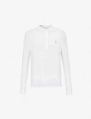 ALLSAINTS Grail cotton-jersey polo shirt