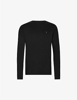 ALLSAINTS: Brace long-sleeved cotton-jersey top