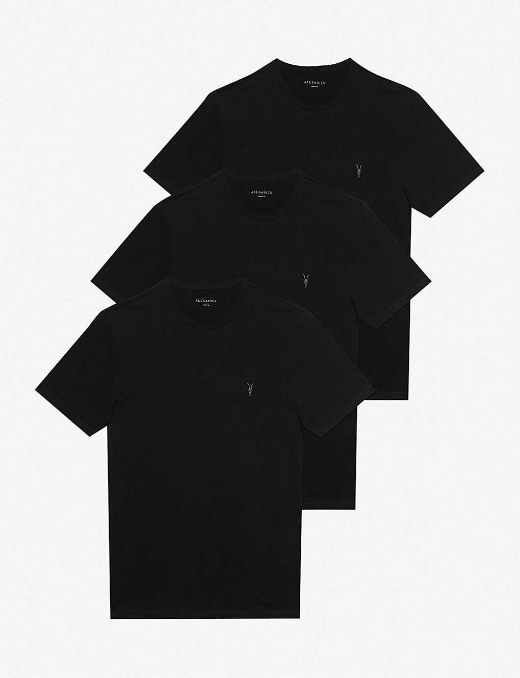 7c4159976a6cae ALLSAINTS - Brace tonic pack of three cotton-jersey T-shirts |  Selfridges.com