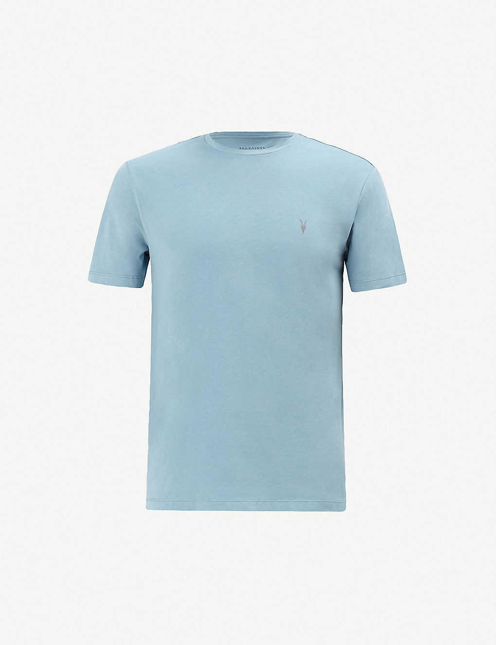 58cc15559ae5f0 ALLSAINTS - Brace crewneck cotton-jersey T-shirt | Selfridges.com