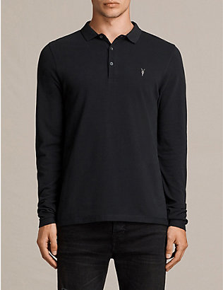 ALLSAINTS: Reform cotton-piqué polo shirt