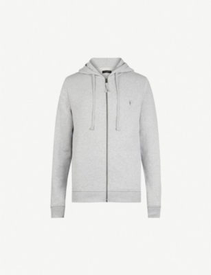 Allsaints Tops Raven slim-fit cotton-fleece hoody