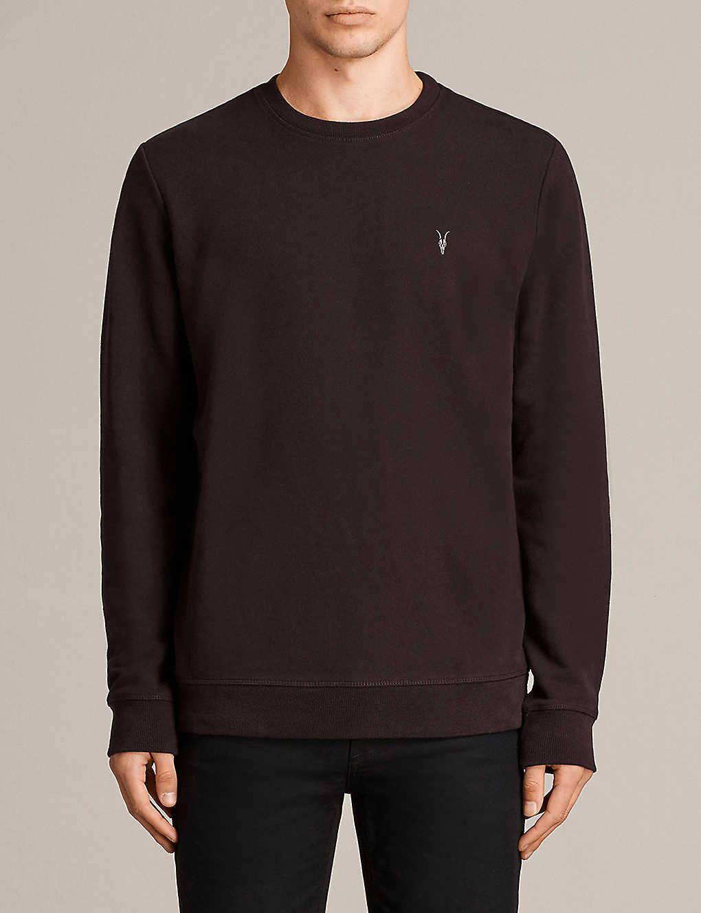170ba825 ALLSAINTS - Raven cotton-fleece sweatshirt | Selfridges.com