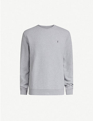 ALLSAINTS: Raven cotton-fleece sweatshirt