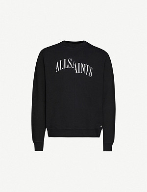 ALLSAINTS Dropout crew-neck cotton-jersey sweatshirt
