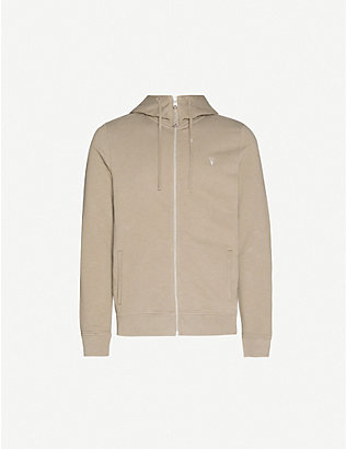 ALLSAINTS: Lutra logo-embroidered cotton-jersey hoody