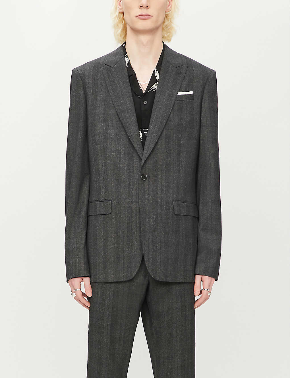 ALLSAINTS: Foxley checked wool-blend jacket