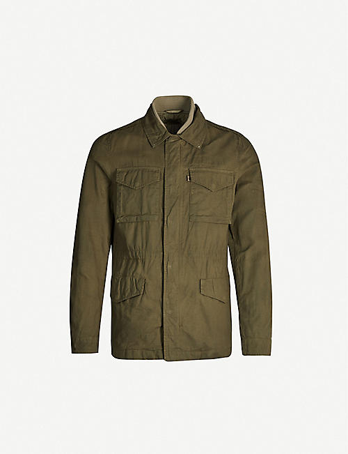 ALLSAINTS Baynes zipped cotton field jacket