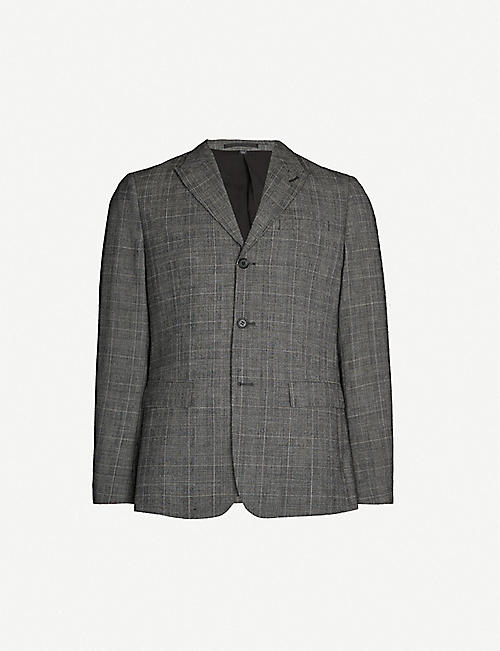 ALLSAINTS Bulmer checked slim-fit wool-blend blazer