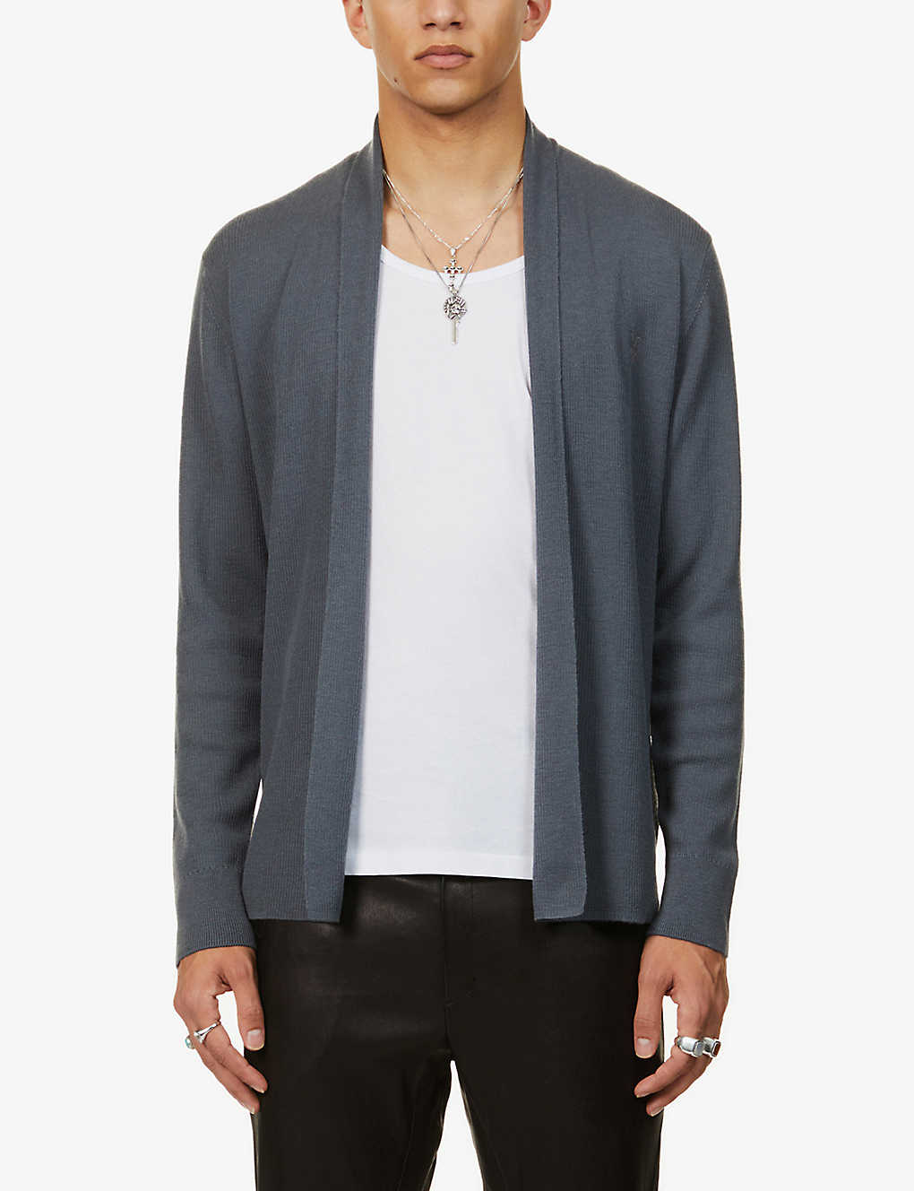 ALLSAINTS: Mode open-front wool cardigan