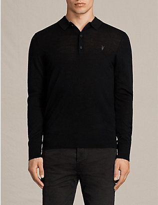 ALLSAINTS: Mode slim-fit wool polo shirt