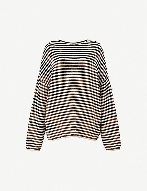 83e615883 ALLSAINTS Acid striped cotton jumper