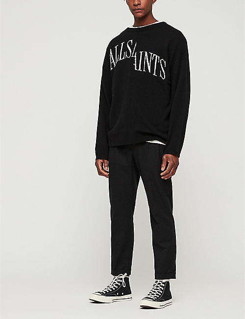ALLSAINTS Split Saints crewneck cotton-blend jumper