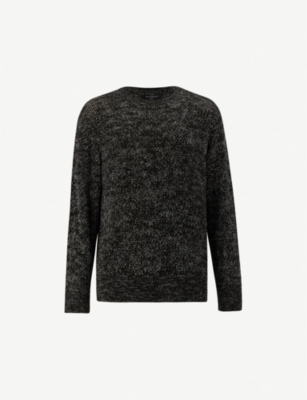 ALLSAINTS Oskett cotton-knit crewneck jumper
