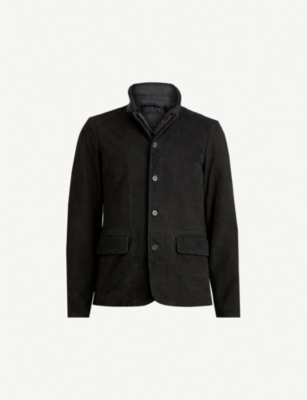 ALLSAINTS Survey brushed-leather blazer