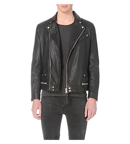 3ab896da511 ALLSAINTS Clay leather biker jacket (Black