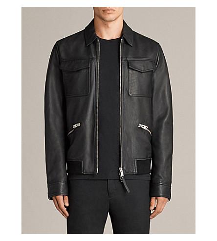 69b8195654e ALLSAINTS Hester leather jacket (Black