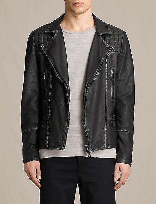 b70efe4a3 ALLSAINTS - Cargo leather biker jacket | Selfridges.com