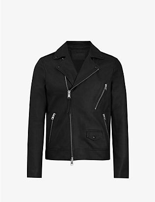 ALLSAINTS: Bloc matte leather biker jacket