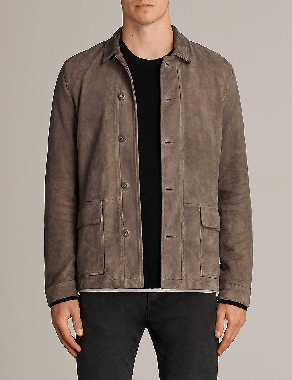 aa971d1ca62f ALLSAINTS - Satter suede jacket | Selfridges.com