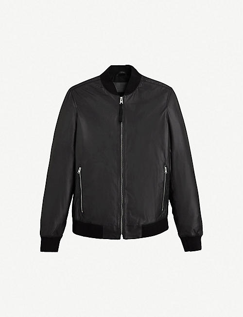 ALLSAINTS Mower leather bomber jacket