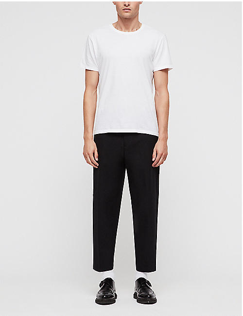 ALLSAINTS Miro cropped cotton and wool-blend trousers