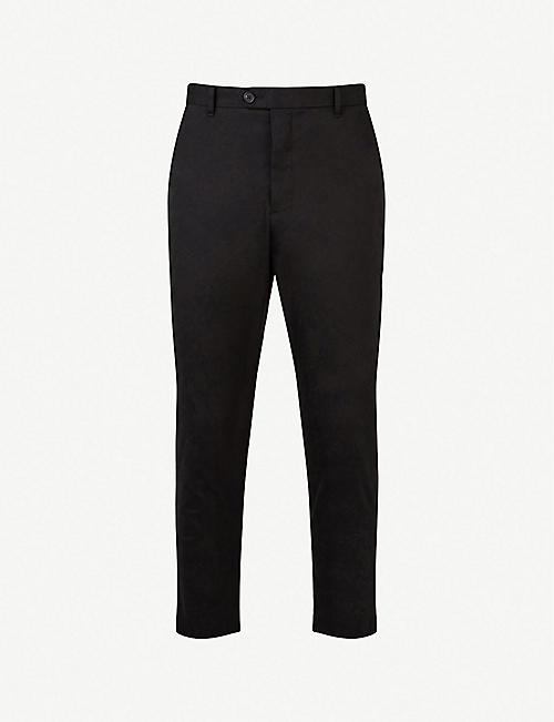 ALLSAINTS Kato contemporary-fit cropped cotton trousers