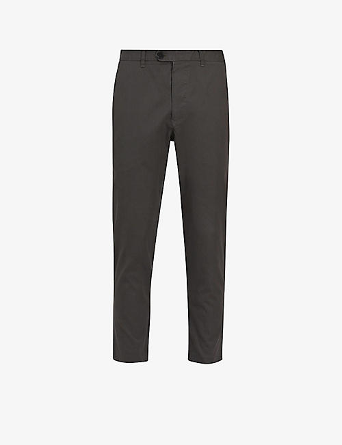 ALLSAINTS: Kato contemporary-fit cropped cotton trousers