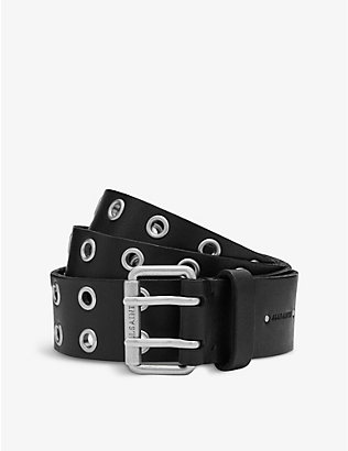 ALLSAINTS: Sturge stud-embellished leather belt