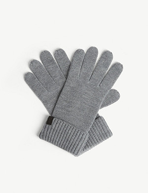 ALLSAINTS Merino wool ribbed gloves