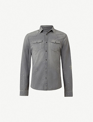 ALLSAINTS Gino distressed denim shirt