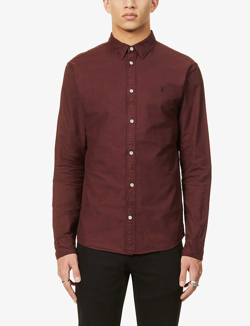 ALLSAINTS: Hungtingdon slim-fit cotton shirt