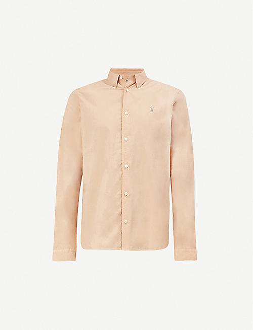 ALLSAINTS Prospect slim-fit cotton-jersey shirt