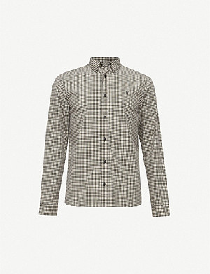 ALLSAINTS Coleville gingham-print cotton shirt